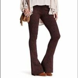 Free People Metallic Jacquard Flare pants
